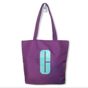 5/$25 🌻Clinique Purple with Teal Logo Tote Bag